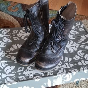 Aldo Rustic Brown Combat Boots
